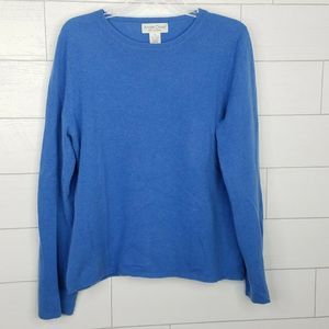 Andre Oliver Pure Cashmere XL Sweater Blue Womens
